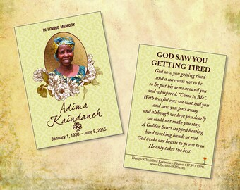 Beautiful African Wallet Prayer Cards: Adinkra Design Collection