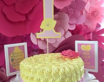 Lemonade Cake Topper, Lemonade Birthday Party