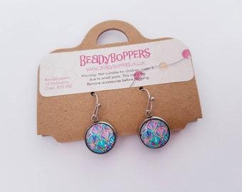 Girls Carnival Earrings. Stainless Steel Drop Earring. Hypoallergenic.