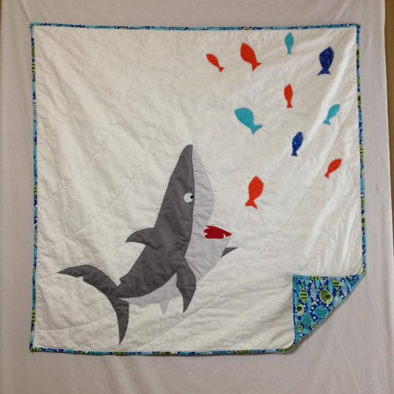 Baby boy quilt Shark blanket Shark bedding Baby quilt : shark quilt - Adamdwight.com