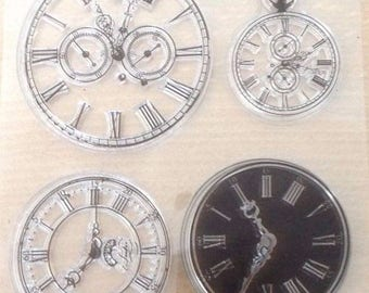 Steampunk clock face clear stamp New Transparent Stamps Seal Silicone Cards
