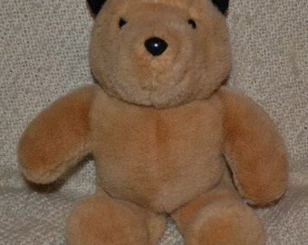 "PADDINGTON VINTAGE 80S , Sooo Soft and Cuddly,Glassy Eyes, Black Ears, Meas. 14"" Excellent Cond.  No Clothes"