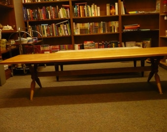 Solid Maple Coffee Table , Extra Long