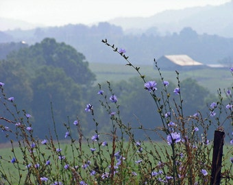 Rustic Photograph 5x7 Farmer's View Smoky Mountains Fine Art Print