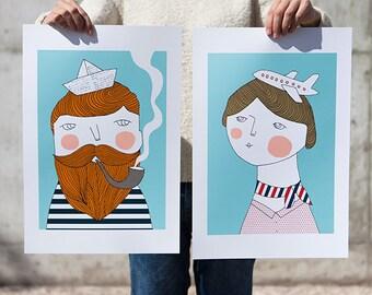 Bon voyage - Big prints - 13 x 19