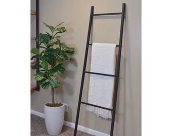 Display Ladder Rack Iron - Metal Blanket Ladder - Taper Tapered, Blanket Ladder, Ladder, Wood and Metal Ladder, Farmhouse Ladder, Decorative