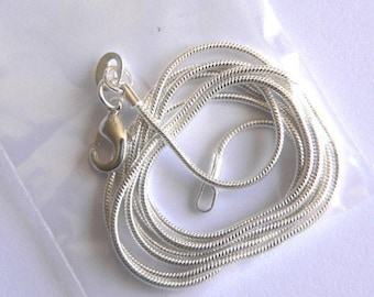 10 - 20 inch  Silver 1 mm snake chain necklace BULK ORDER