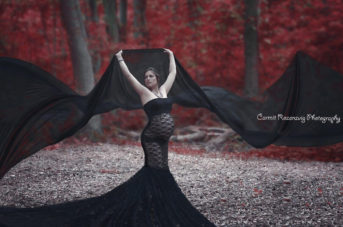 Black lace slim fit maternity dressmermaid maternity zoom ombrellifo Choice Image