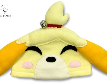Animal Crossing - Isabelle Hat / Fleece Hat / Winter Hat / Animal Crossing Hat / Video Game Characters