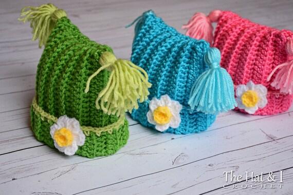 CROCHET PATTERN Winter Whimsy crochet hat pattern square