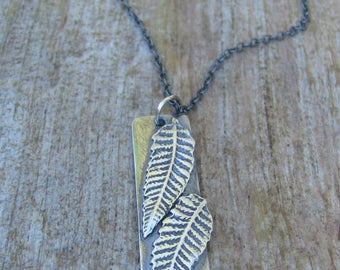 Sterling Silver Fern Necklace, Fern Necklace, Botanical Necklace, Silver Fern Necklace, Garden Necklace,  Silver Leaf Necklace