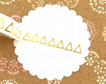 Foil Washi Tape: Gold Triangles