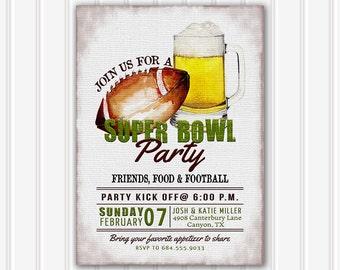 Super Bowl Invitation| Super Bowl Party Invitation, Football Party, Super Bowl Party, Superbowl Invitation, Football Party| Game Day|