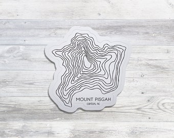 Mount Pisgah Sticker | Appalachian Mountains | Bumper Sticker | Water Bottle Sticker | Asheville | Outdoor Enthusiast | Blue Ridge