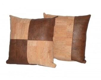 Cork Pillow / Cushion -  FREE SHIPPING WORLDWIDE - Vegan Eco-Friendly Mothers Day Gift Idea