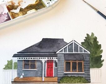 Original bespoke house portrait