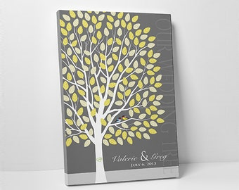 Wedding Tree Guest Book // Wedding Guest Book Tree // Personalized Wedding Print // 16x20 // 55-150 Signatures // Canvas or Flat Print