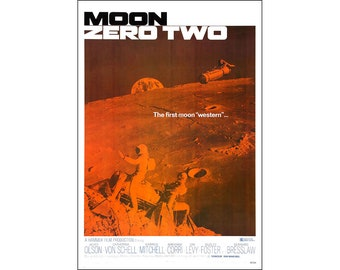 Moon Zero Two Movie Poster Print - 1969 Science Fiction - One (1) Sheet Artwork