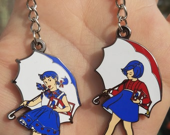 PBR/Morton's salt girl mashup keychain