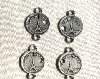 Vintage jewelry links Paris bracelet links vintage Paris souvenir bracelet links eiffel tower vintage supplies from The Jeweler's Wife.