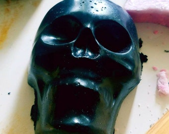 Charcoal skull soap
