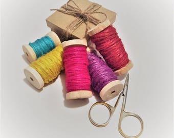 Jute Twine - 10 meters - Red, Yellow, Purple, Pink, Torquoise or Teal