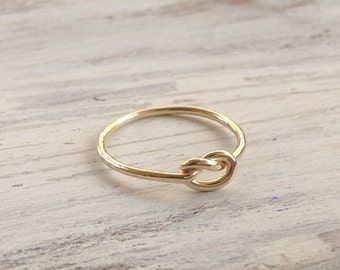 Knot ring, infinity knot, gold ring, knot knuckle ring, above knuckle ring, knuckle ring, friendship ring - 1003