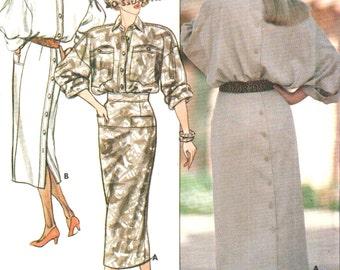 Butterick vintage 1980s sewing pattern - mod dress - Size 8-10-12