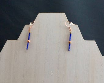 Lapis and Copper Earrings