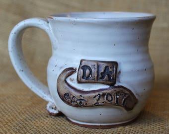 Da pottery mug, gift for grandma, Stoneware wheel thrown