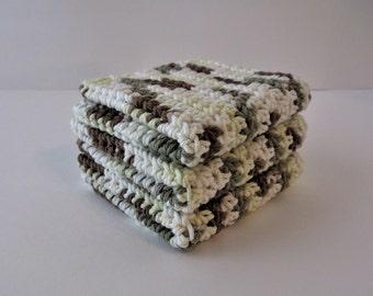 Crochet Dishcloth Set, Crochet Dishcloths, Cotton Dishcloths, Crochet Dishrags, Dish Cloths, Crochet Washcloths, Bridal Shower, Housewarming