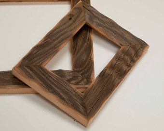 1) 4x6 Reclaimed Barn wood distressed rustic picture frame upcycled weathered barnwood