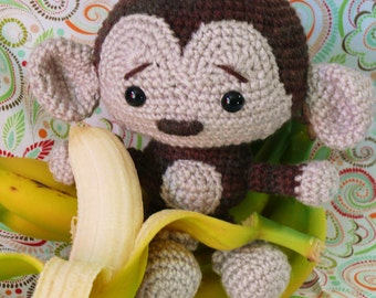 Sweet Monkey Crochet Pattern PDF