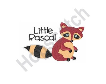 Raccoon - Machine Embroidery Design, Little Rascal