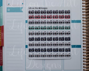 Planner Stickers- Cameras 63 ct IC150