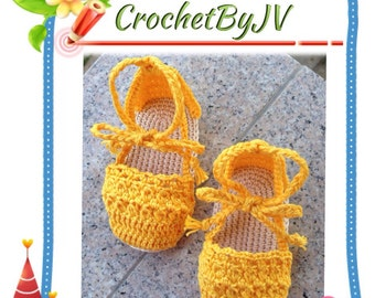 crochet baby girl sandals, baby girl espadrile, handmade baby shoes