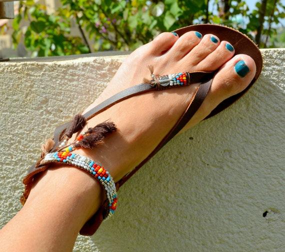 Boho Sandals Hippie Beaded Sandals Women Sandals Tassel Greek Gladiator Sandals Handmade Sandals Sandals Sandals Bohemian Sandals vWfnqTFxX
