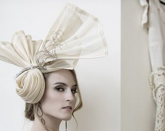 Kentucky Derby Hat Haute Couture Headpiece Summer Straw Racing Hat