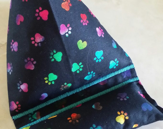 Gadget Bags-Cell Phone Stand-Cell Phone Pillows-Pooch Collection (Rainbow Paws on Black)