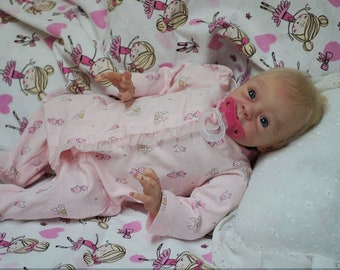 reborn babies Open Mouth  Reborn doll  Babies girl doll Silicone Vinyl soft body doll 19 inch doll open blue eyes blond hair