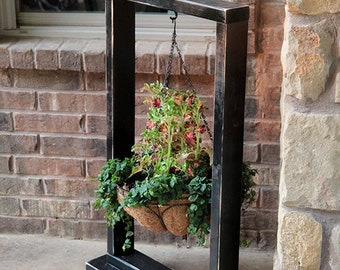 Hanging Basket Wood Stand | Hanging Planter | Plant Hanger | Hanging Plant