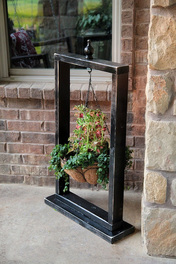 Hanging Basket Wood Stand Hanging Planter Plant Hanger on Hanging Stand For Plants  id=62149