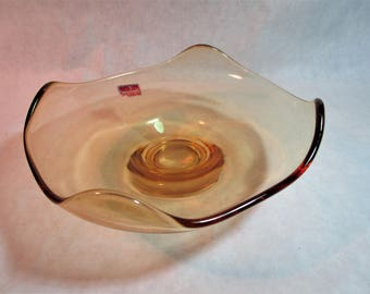Vintage Viking Glass Epic 4 Point Dish
