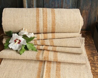 R 768 antique hemp FOX BROWN lin upholstery 12.35yards handloomed STAIRUNNER benchcushion Beachhouse look, upholstery project, 리넨