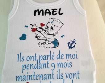 Bodysuit, baby, child, birth gift, personalized with your name, name