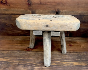 Antique 3 Legged Milking Stool, 1800's to early 1900's
