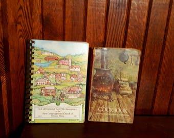 Vintage Maine Cookbooks, New England Cookbooks, Maine Recipe Books, Downeast Maine Cookbooks, Vintage Cookbooks, Maine History Books, Maine