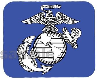 Mouse Pad; Usmc Insignia Logo Eagle Globe And Anchor