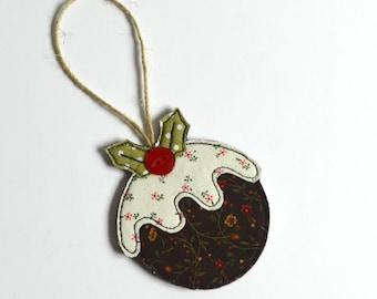 Christmas Pudding decoration, Figgy Pudding decoration, tree decoration, christmas ornament, Christmas decoration, fabric Christmas pudding