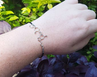 Two Molecule Jewelry Keychain Necklace Charm Bracelet Anklet Earrings Serotonin Dopamine Acetylcholine Chemistry Neuroscience Psychology